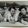 Freundinnen oder Studentinnen am Strand, 1980er Jahre